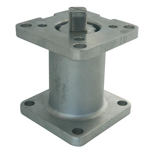 REHAUSSE D´AXE INOX 304 AVEC PLATINE ISO 5211